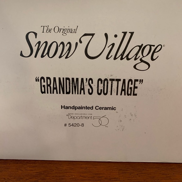 Department 56 Other - Grandma's Cottage
